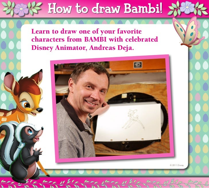How to draw Thumper! Bambi!       How to draw   Learn to draw one of your favorite   characters from BAMBI with celebrated...