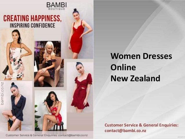 Customer Service & General Enquiries: contact@bambi.co.nz Women Dresses Online New Zealand