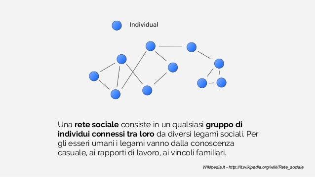 Una rete sociale consiste in un qualsiasi gruppo di individui connessi tra loro da diversi legami sociali. Per gli esseri ...