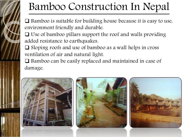 Bamboo for Bamboo roofing materials