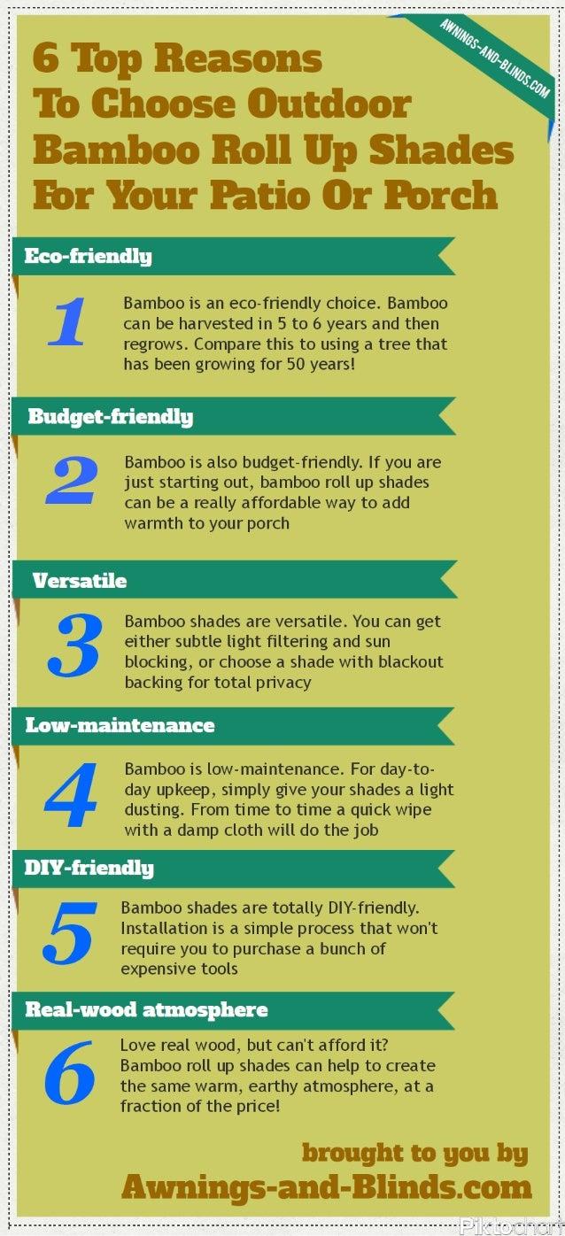 Cheap 6 Reasons To Choose Outdoor Bamboo Roll Up Shades