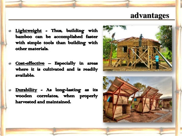 Bamboo construction for Bamboo roofing materials