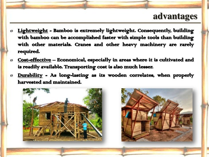 Bamboo construction final ppt for Bamboo roofing materials