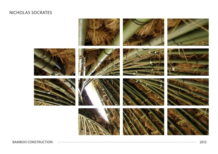 NICHOLAS SOCRATES BAMBOO CONSTRUCTION   2012