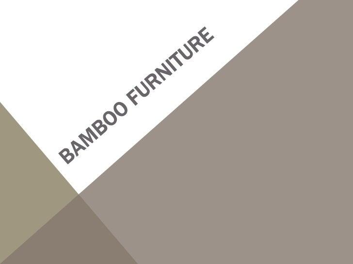 BAMBOO BED             Visit: TradeFord.Com
