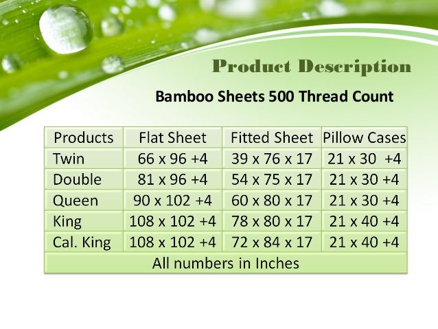 product description bamboo sheets 500 thread count - Bamboo Sheets