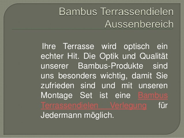 Bambus Direkt Import