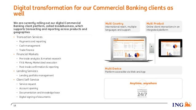 We are currently rolling out our digital Commercial Banking client platform, called InsideBusiness, which supports transac...