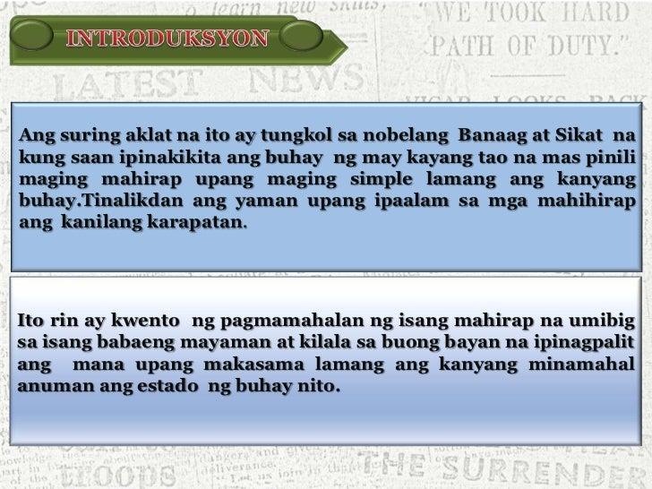 banaag at sikat Balangkas ng pagsusuri ng nobela ni: mary flor burac i  balangkas ng nobela a pamagat: banaag at sikat (kabanata 1) b may- akda:.