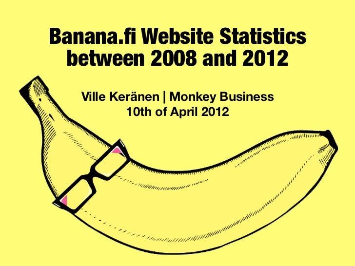 Banana.fi Website Statistics between 2008 and 2012   Ville Keränen | Monkey Business           10th of April 2012