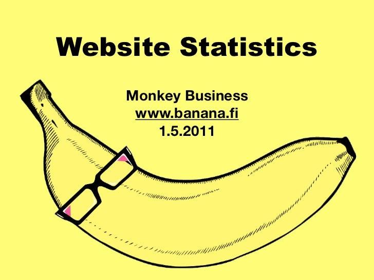 Website Statistics    Monkey Business     www.banana.fi       1.5.2011