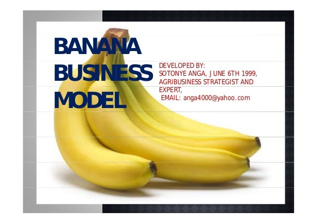 BANANABUSINESS           DEVELOPED BY:           SOTONYE ANGA, JUNE 6TH 1999,           AGRIBUSINESS STRATEGIST AND       ...
