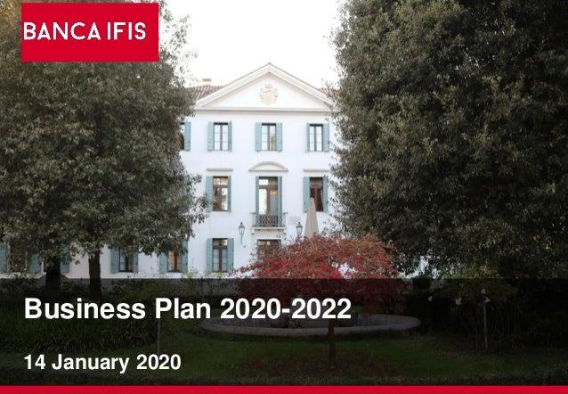 Business Plan 2020-2022 14 January 2020