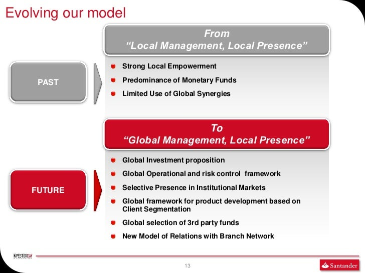 """Evolving our model                               From                 """"Local Management, Local Presence""""                 S..."""