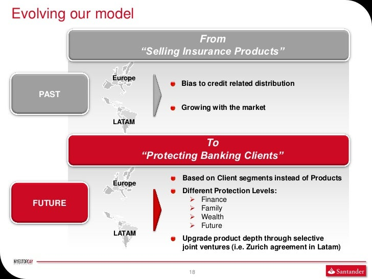 """Evolving our model                                   From                       """"Selling Insurance Products""""              ..."""