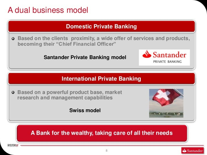 A dual business model                     Domestic Private Banking  Based on the clients proximity, a wide offer of servic...
