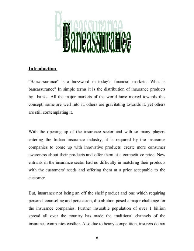 Introduction of bancassurance