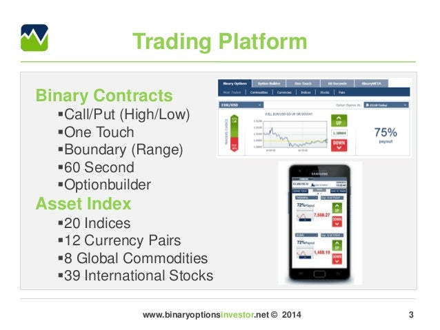 High low binary options broker review