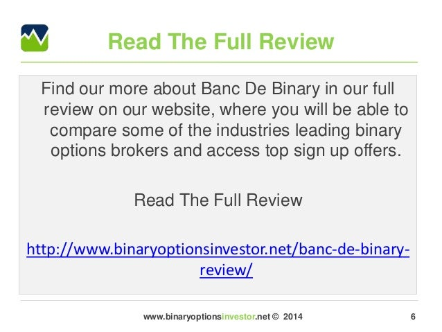Binary option brokers review