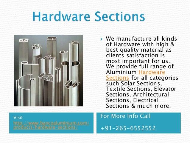 Aluminium Extrusions & Profiles Manufactures