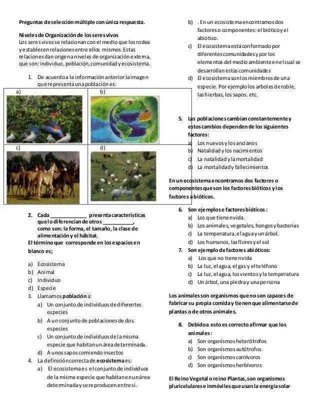 Banco De Preguntas De Ciencias Naturales 4 Y 5