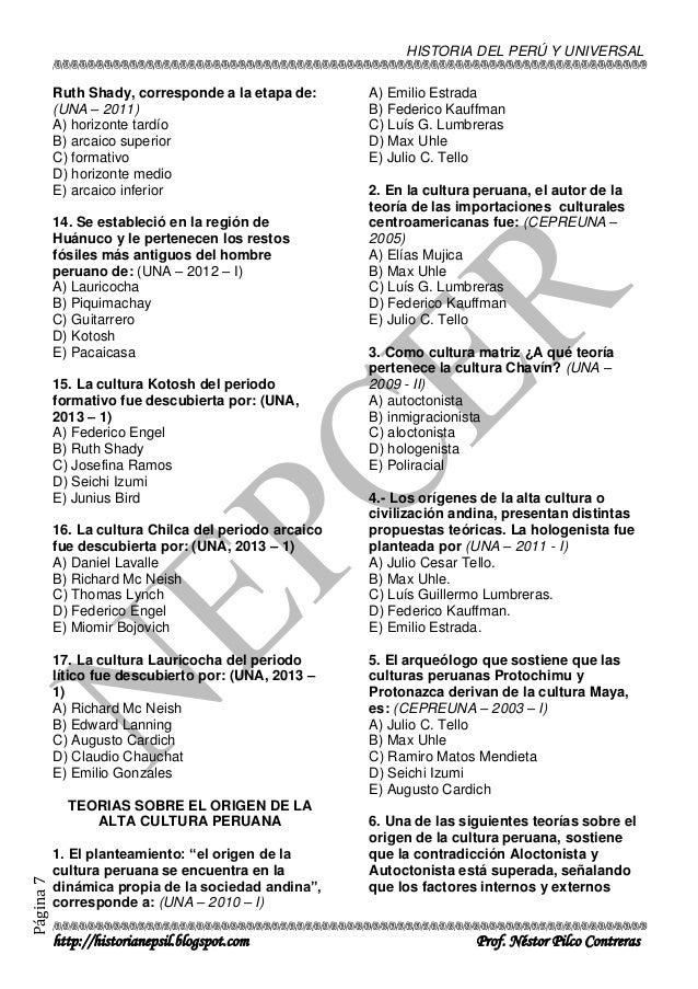 Banco De Preguntas De Historia Unap Actualizado 2015