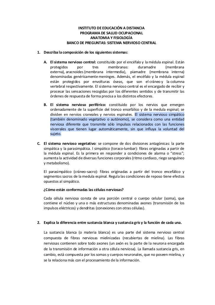 Contemporáneo Banco De Prueba Para La Anatomía Y La Fisiología ...