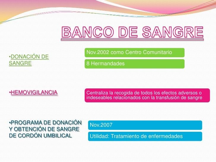 BANCO DE SANGRE<br /><ul><li>DONACIÓN DE  SANGRE
