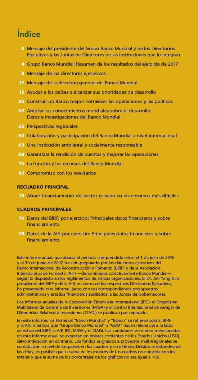Banco Mundial. informe 2017