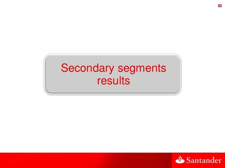 53Secondary segments      results