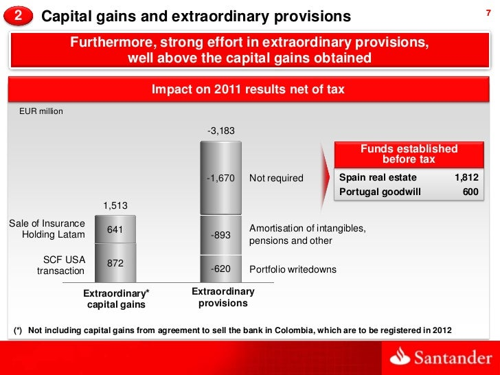 2     Capital gains and extraordinary provisions                                                                         7...