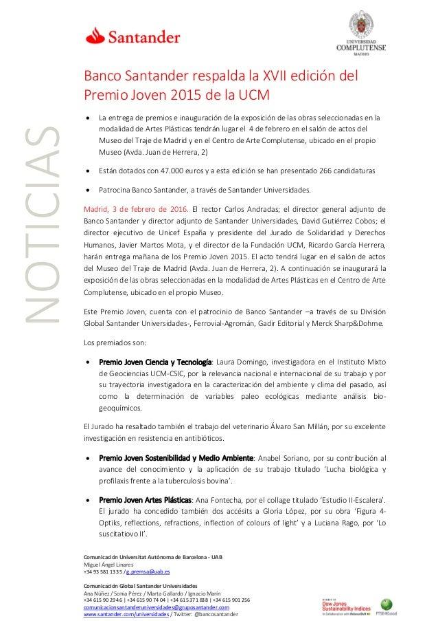 Comunicación Universitat Autònoma de Barcelona - UAB Miguel Ángel Linares +34 93 581 13 35 / g.premsa@uab.es Comunicación ...
