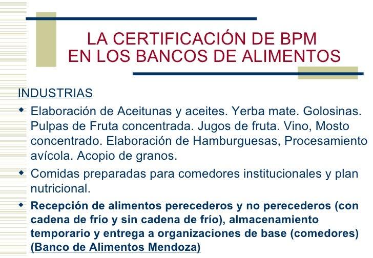 Bancos De Alimentos Y Buenas Pr Cticas Alimentarias De