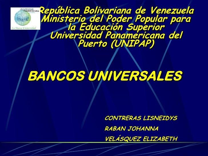 Bancos universales
