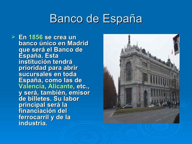 Bancos y empresas espa olas del siglo xix for Sucursales banco espana