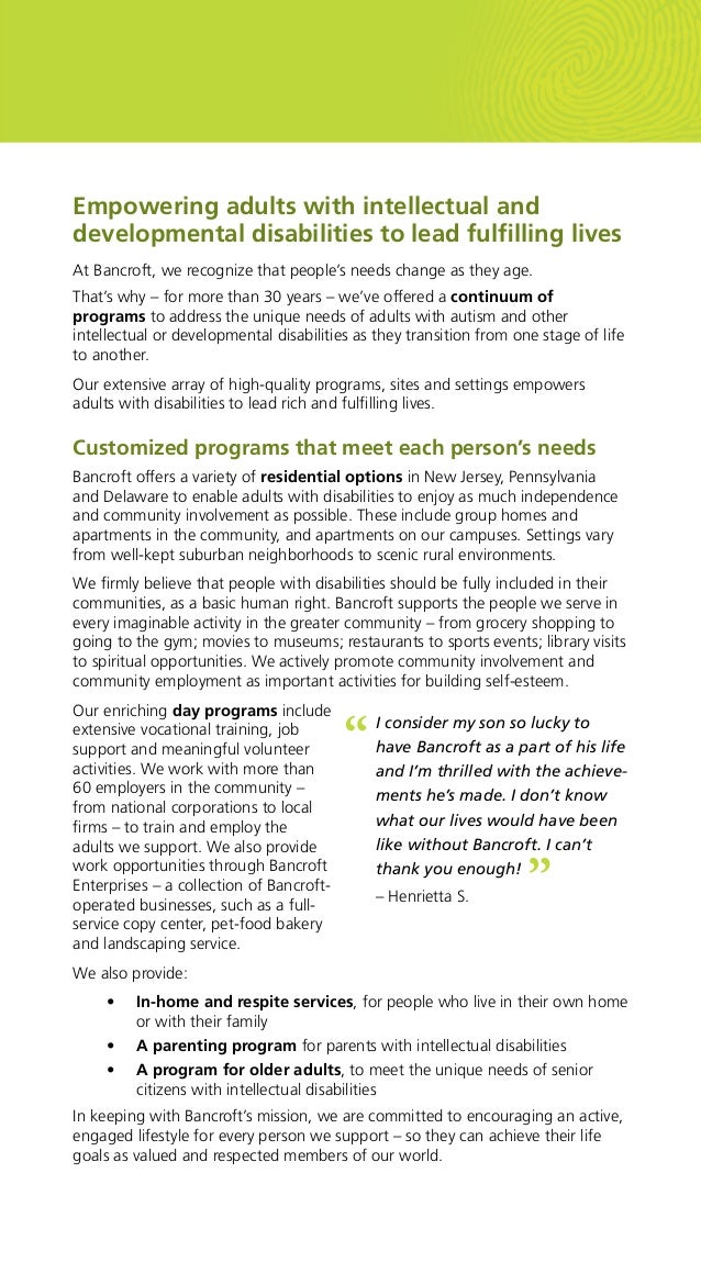 Autism & Intellectual Disabilities Services for Adults Slide 3