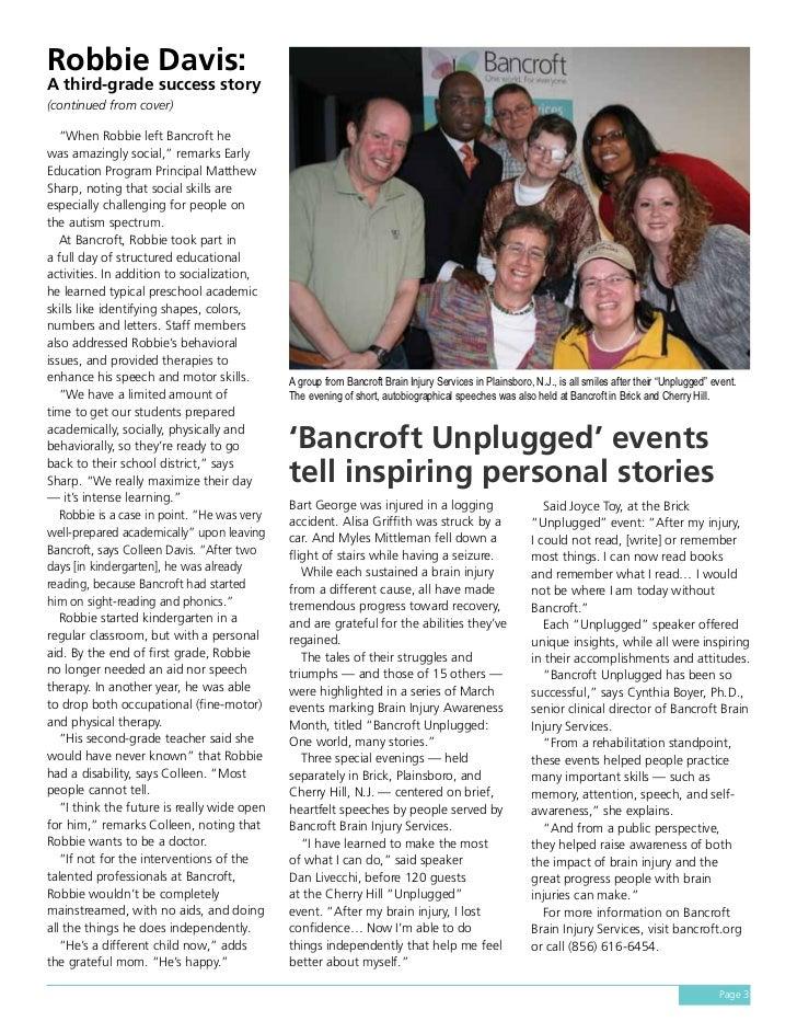 Bancroft Our World Spring 2011 Slide 3