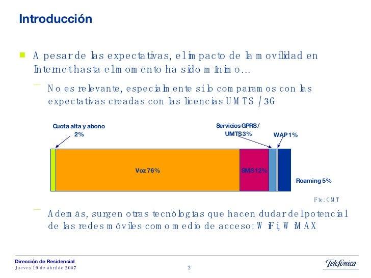Banda Ancha Movil: el papel del teléfono móvil Slide 2