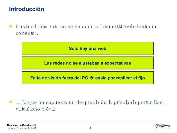 Banda Ancha Movil: el papel del teléfono móvil Slide 3