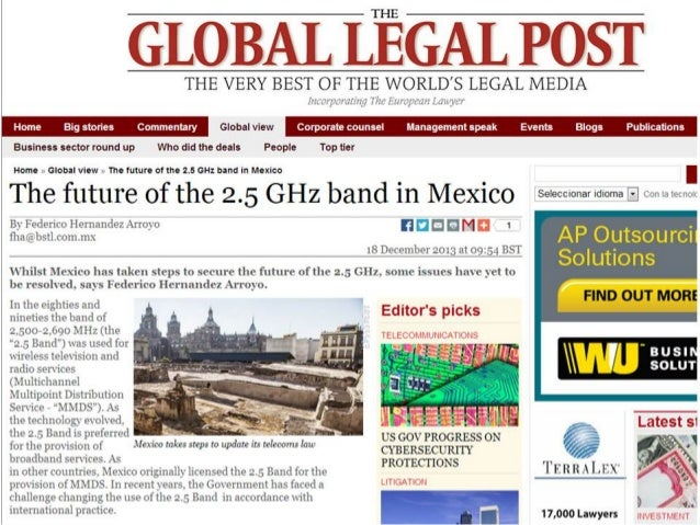 The future of the 2.5 GHz band in Mexico.