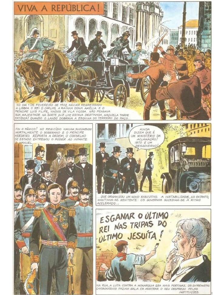 """No quarto volume da """"História de Portugal em Banda Desenhada"""" com texto de A. do Carmo Reis e desenhos de José Garcês, Edi..."""