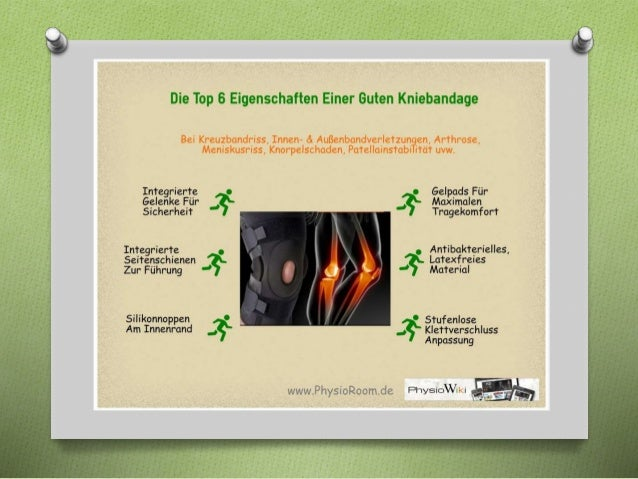 Bandagen Ratgeber Ausgabe 1 Kniebandagen www.physioroom.de Slide 2