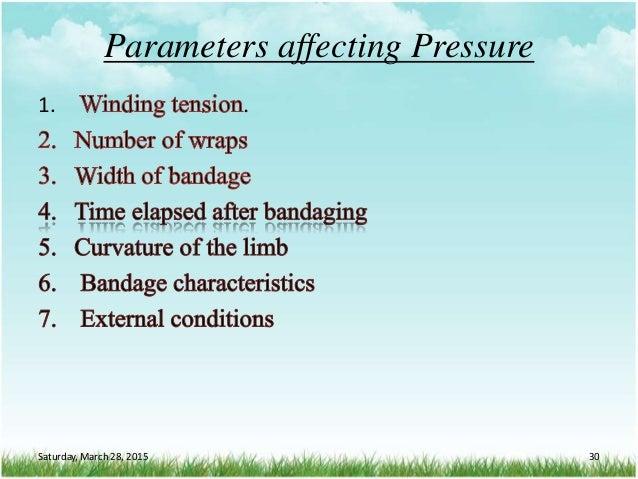 Parameters affecting Pressure 1. . Saturday, March 28, 2015 30