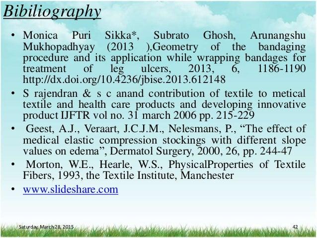 Bibiliography • Monica Puri Sikka*, Subrato Ghosh, Arunangshu Mukhopadhyay (2013 ),Geometry of the bandaging procedure and...