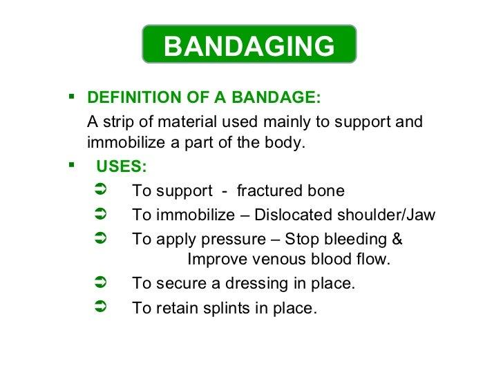 Bandaging Slide 2