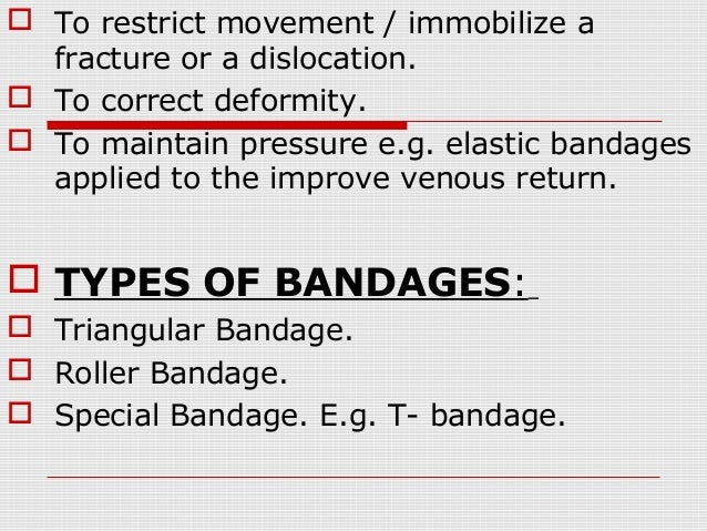 ppt on Bandaging Slide 2