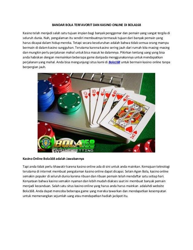 BANDAR BOLA TERFAVORIT DAN KASINO ONLINE DI BOLA168 Kasino telah menjadi salah satu tujuan impian bagi banyak penggemar da...