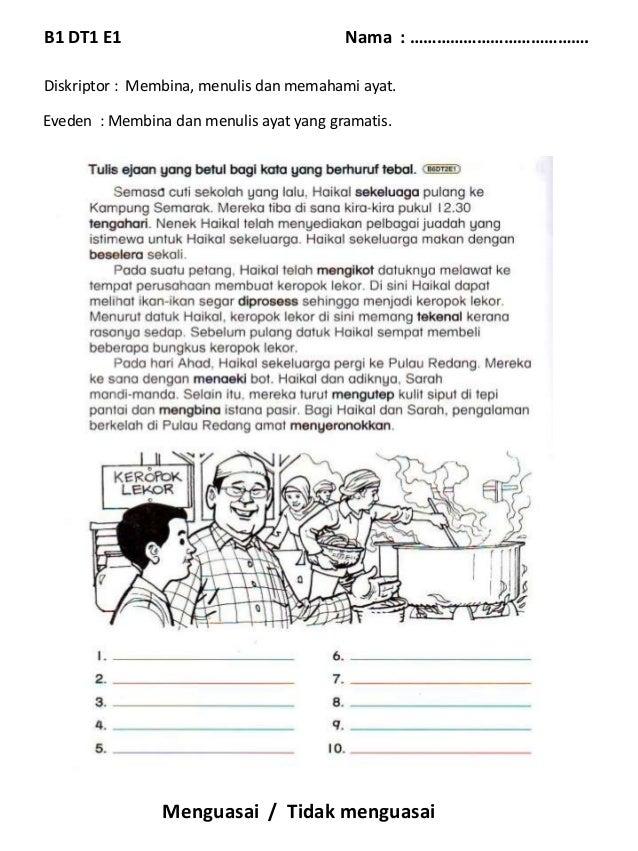 Eveden B Melayu Tahun 3