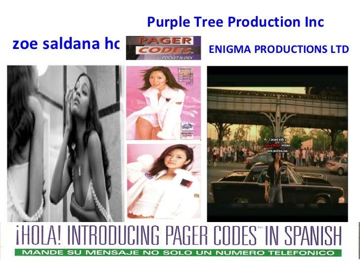 Purple Tree Production Inczoe saldana hot            ENIGMA PRODUCTIONS LTD
