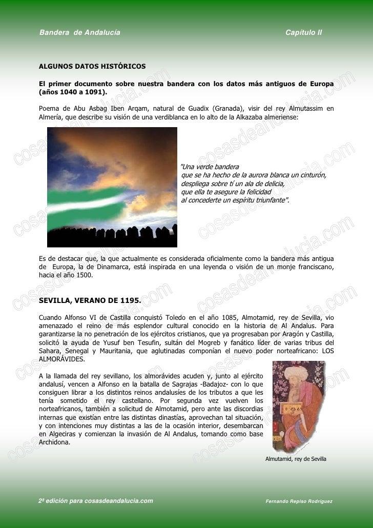 Bandera de Andalucía                                                                     Capítulo II    ALGUNOS DATOS HIST...